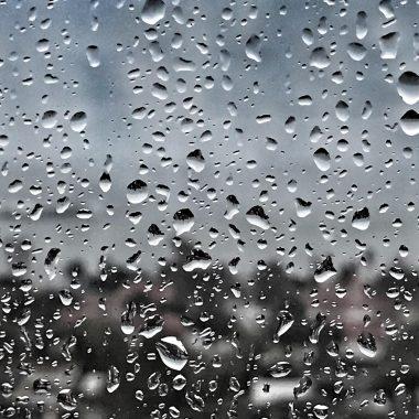 Rain against windowpane