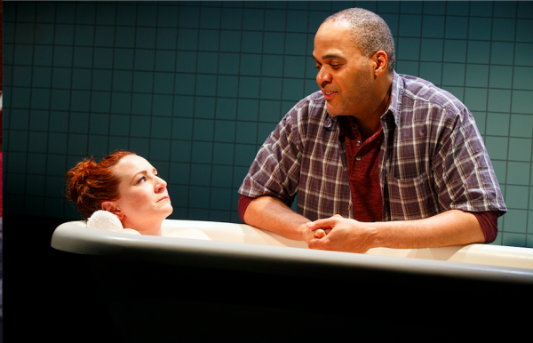 Katy Sullivan and Victor Williams in Cost of Living. Credit: Joan Marcus