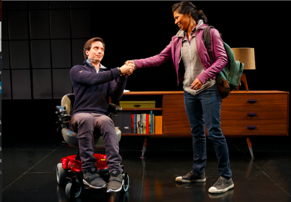 Gregg Mozgala and Jolly Abraham in Cost of Living. Credit: Joan Marcus