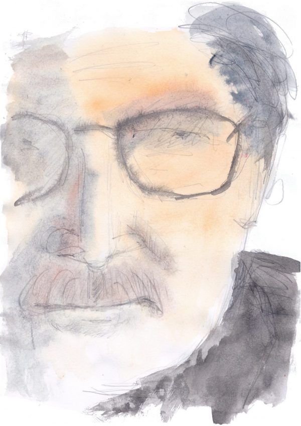 John Yamrus-Headshot-Watercolor by Henry Denander