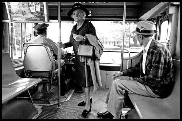 Lady on bus, New Orleans (c) Elisa Leonelli 1976