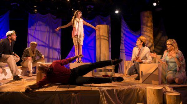 Naren Weiss, Tuck Milligan, Devin Haqq, Elodie Lucinda Morss, John P. Keller, and Erin Beirnard in Singing Beach Credit: Joel Weber