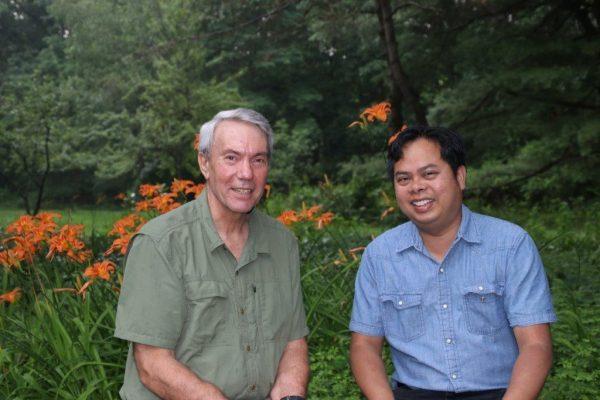 David Kaczynski and Bunkong Tuon, photo taken by Carol McCord
