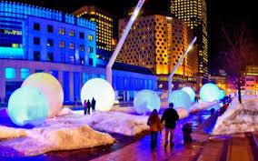 Winter carnival lit snow balls theme
