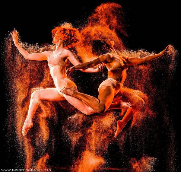 Invertigo Dance Theatre's Jessica Dunn and Sadie Jane Photo by George Simian Teaches