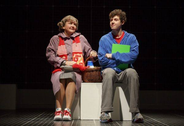 Amelia White & Adam Langdon in The Curious Incident of the Dog in the Nighti-Time at the Ahanson theatre.