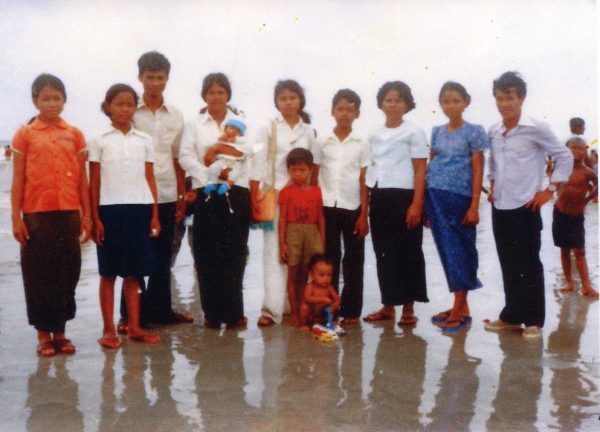 Tuon and his extended family in a refugee camp in Thailand circa 1980.