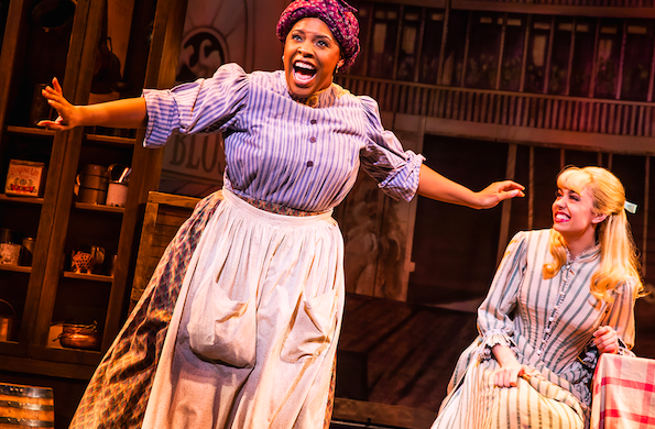 Bryonha Marie Parham and Kaley Ann Vorhees in Prince of Broadway. Credit: Matthew Murphy