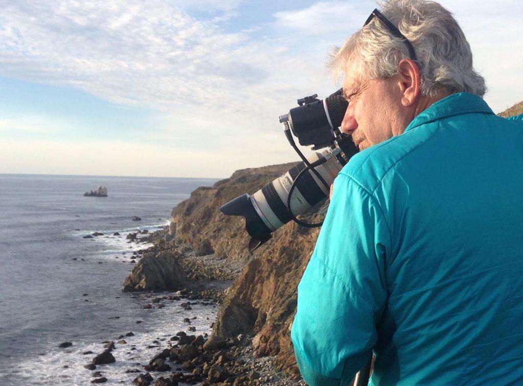 Louie Schwartzberg filming in Big Sur