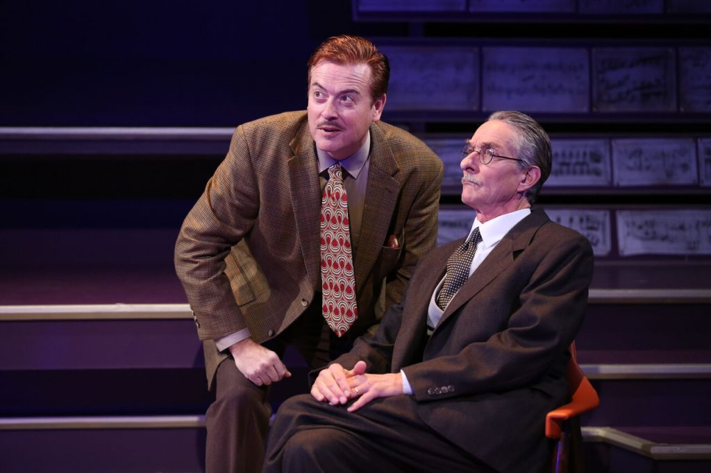 Mark Shanahan and Stephen D'Ambrose in Small World. Credit: Carol Rosegg