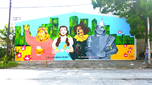 Wizard Of Oz Mural Greets Entrants To Tampa Heights ? Part 95