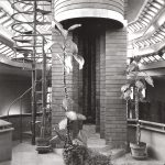 """Herbert F. Johnson House, """"Wingspread,"""" Skylight, Windspread, WI, 1939. Photo: R&R Meghiddo."""