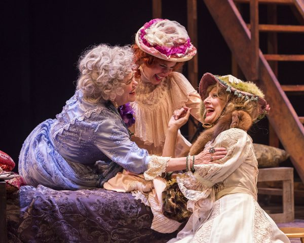 Deborah Srang,left, with Jill Hill and Susan Angelo in Giraudoux' The Madwoman of Chaillot.