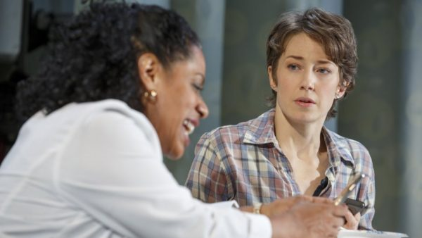 Lisa Colon-Zayas and Carrie Coon in Mary jane. Credit: Joan Marcus