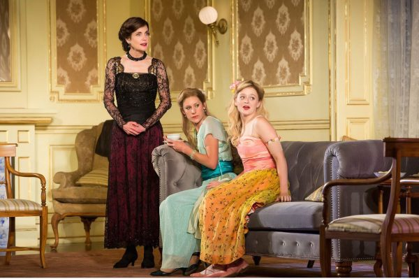 Elizabeth McGovern, Charlotte Parry, and Anna Baryshnikov in Time and the Conways. Credit: Jeremy Daniel