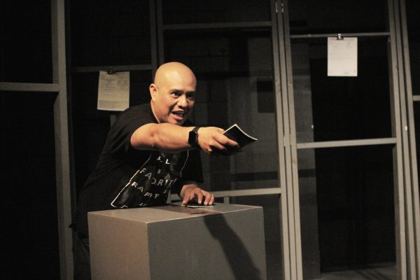 Alex Alpharaoh in WET: A Dacamented Journey at the Ateater Village Theatre. Photo by Youthana Yuos.