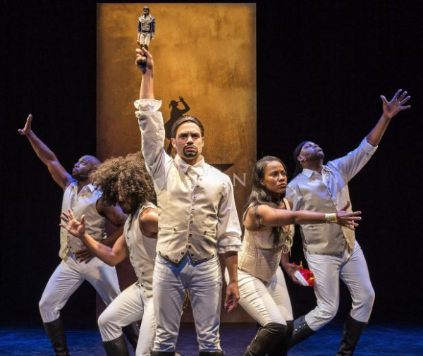The cast of Spamilton at the Kirk Douglas Theatre.
