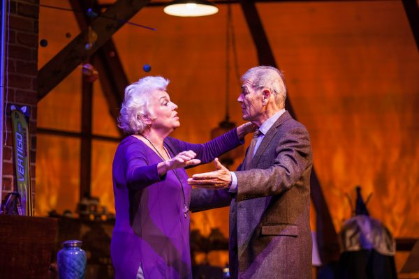 Tyne Daly and Robert Forster in Chasing Mem'Ries. Photo by Chris Whitaker.