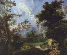 Michael Willmann, 'Landscape with the Dream of Jacob', 1691