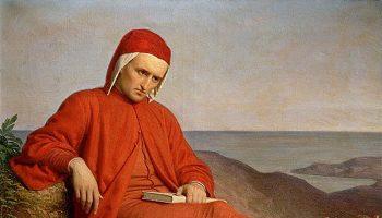 'Dante in Esilio' by Domenico Peterlini 1860