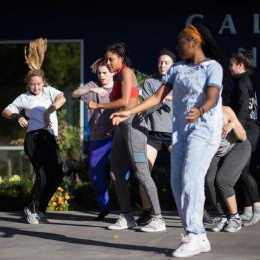 CalArts Flash Mob.  Photo courtesy of CalArts.
