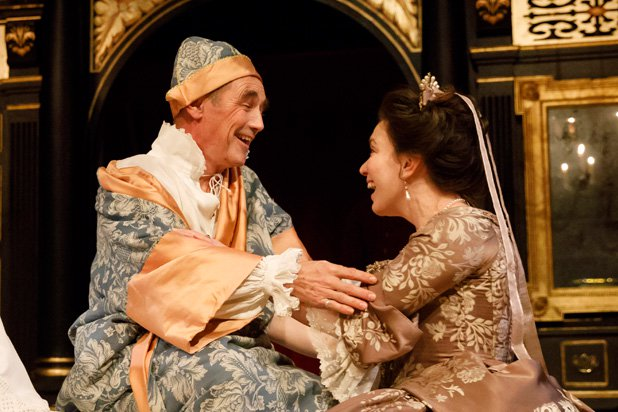 Mark Rylance and Melody Grove in Farinelli and the King. Credit: Joan Marcus