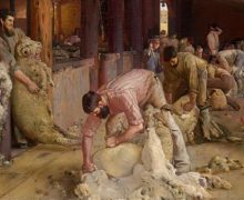 Tom Roberts, 'Shearing the Rams'