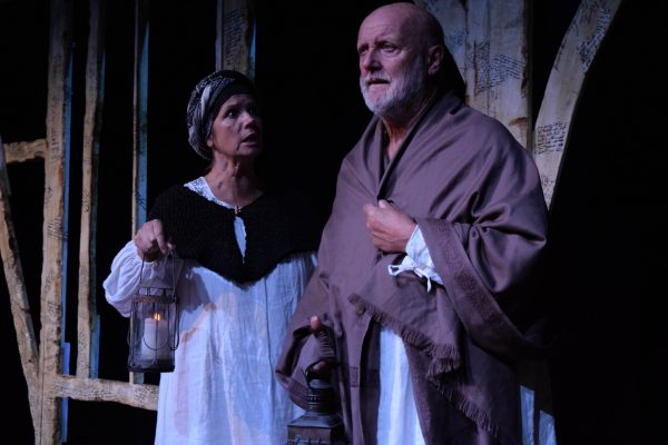 Sally Edwards & Philip Whitchurch in Shakespeare, His Wife and the Dog at the Edye.
