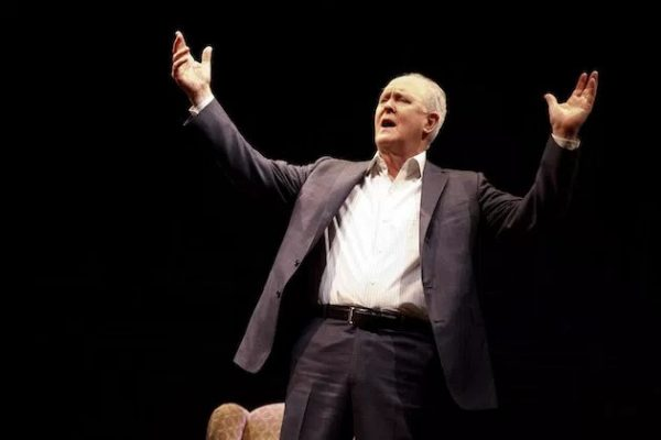 John Lithgow in his solo show Stories by Heart Credit: Joan Marcus