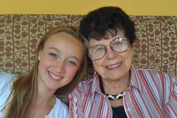 Granddaughter and Grandmother when the younger one still wore braces!