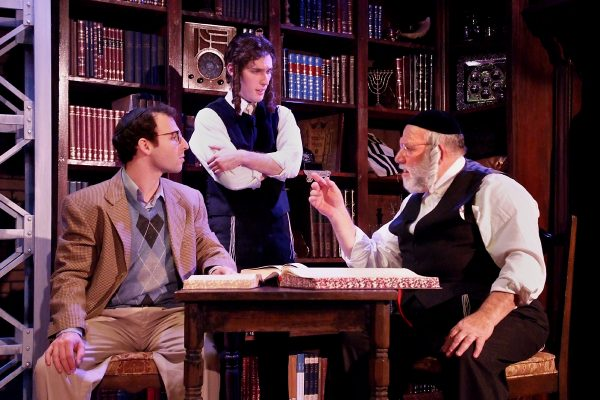 l-r, Sam Mandel, Sor Gvirtsman & Alan Blumenfeld in The Chosen at The Fountain Theatre.