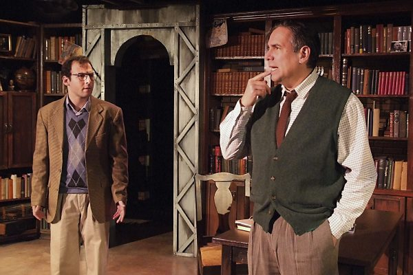 l-r, Sam Mandel & Jonathan Arkin in The Chosen at the Fountain Theatre.