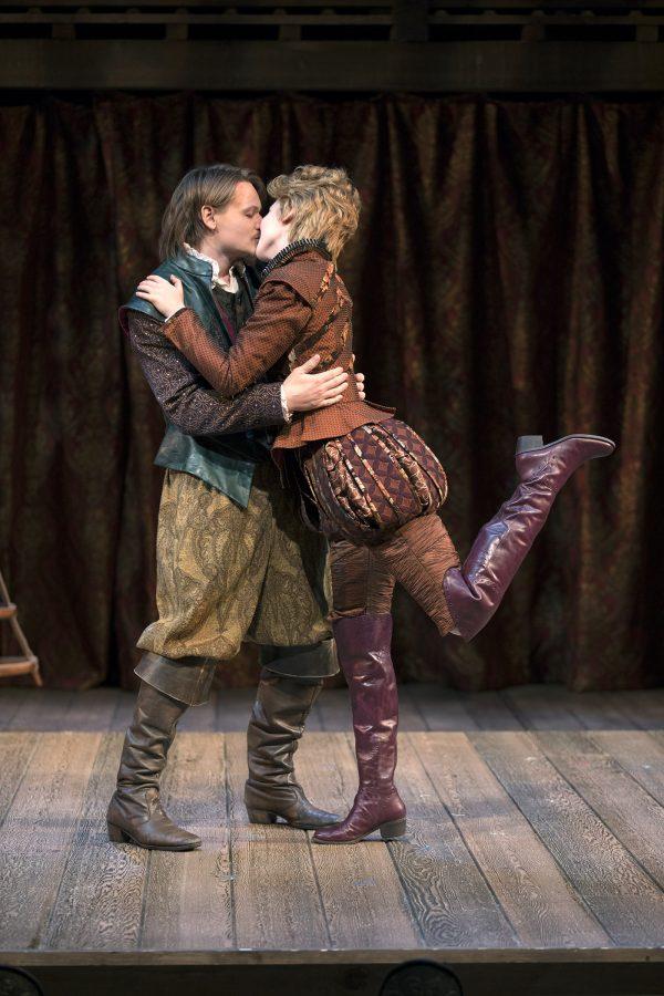 Paul David Story & Carmela Corbett in South Coast Rep's Shakespeare In Love. Photo by