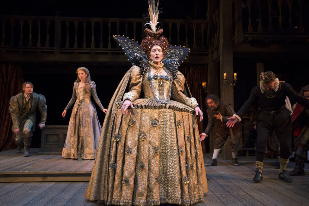 Elyse Mirto as Queen Elizabeth in South coast Rep's Shakespeare In Love.