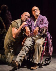 l-r, Jason Manuel Olazábal and Rubén Garfias in Elliot, A Soldier's Fugue.