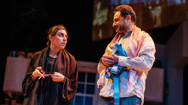 Vaneh Assadourian & Kamal Marayati in The Latino Theatre Company's production of The Happiest Song Plays Last.