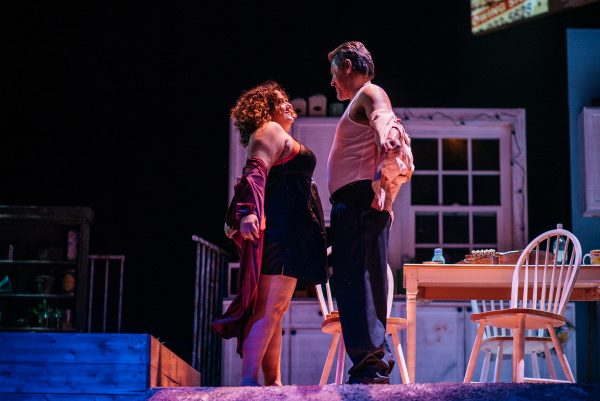 Elisa Bocanegra & Al Rodrigo in The Latino Theatre Company's production of The Happiest Song Plays Last.