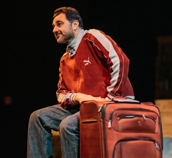 Kamal Marayati in Te Latino Theatre Company's production of The Happiest Song Plays Last.