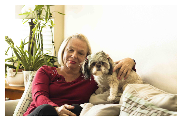 Joan Miller_Dog Coco_Photo by Jim Storm_Cultural Weekly.com
