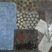Jasper Johns, Untitled, 1992 - 4. Oil and encaustic on canvas,  199.4 x 300.7cm. The Eli and Edythe Broad Collection. Art ⓒ Jasper Johns/ Licensed by VAGA, New York, NY. Photo: Douglas M. Parker Studio
