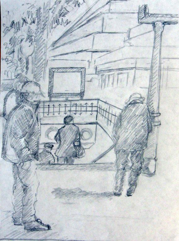 Subway sidewalk entrance
