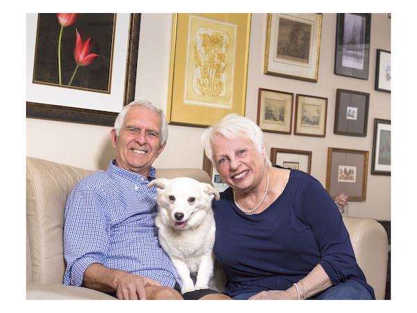 Susan and Jim Taylor. Dog Sophie. Photography by Jim Storm. Cultural Weekly.