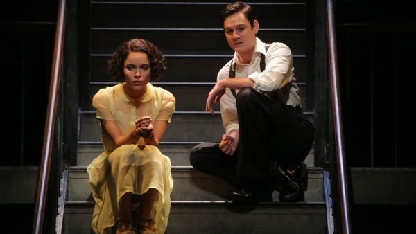 Juliana Canfield and Tom Pecinka in He Brought Her Heart Back in a Box. Credit: Gerry Goodstein
