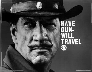 "Richard Boone as ""Paladin"""