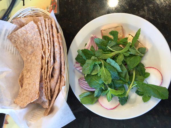 Freshly Baked Bread and Sabzi