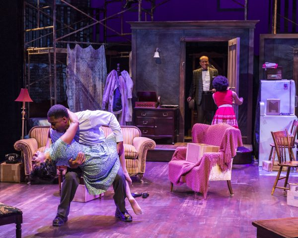 l-r: Toya Turner, Ben Cain, Bert Emmett and Sarah Hollis in A Raisin In the Sun At A Noise Within.