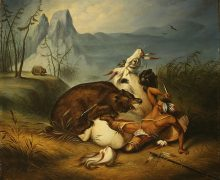 708px-Indian_Bear_Fight,_anonymous_painter_(mid-19th_century)