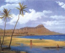 800px-'Diamond_Head_from_Waikiki',_oil_on_canvas_painting_by_Enoch_Wood_Perry,_Jr.,_c._1865