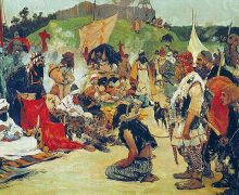 800px-S._V._Ivanov._Trade_negotiations_in_the_country_of_Eastern_Slavs._Pictures_of_Russian_history._(1909)