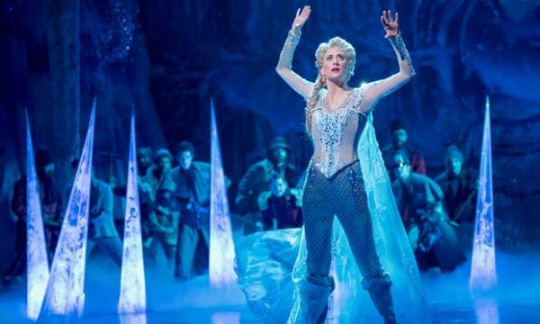 Caissie Levy in Frozen: The Broadway Musical. Credit: Dee van Meer